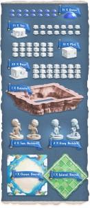Componenti del gioco Santorini