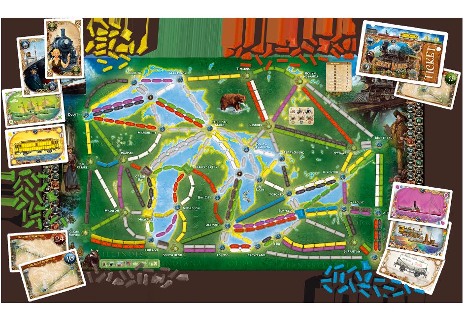 Mappa dei Grandi Laghi